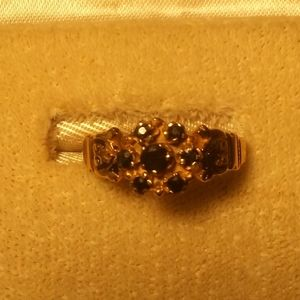 Antique 1800s SOLID 10kt NATURAL Sapphire Ring
